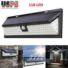 118 Led Solar Sensor Light for Home Garden Business Sign Parking Lot Path Lamp