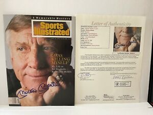 MICKEY MANTLE JSA Letter Of Authenticity SPORTS ILLUSTRATED AUTOGRAPHED Signed