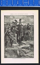 Alexander the Great Discovers the Body of Darius - 1899 History Print