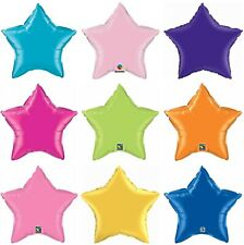 """20"""" Star Foil Mylar Qualatex Solid Colors Party Balloon Event Decorations"""