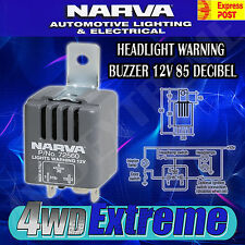 NARVA HEADLIGHT ON WARNING BUZZER 12 VOLT 85 DECIBEL, LIGHT ALARM 72560BL