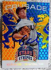 Atlanta Braves Kolby Allard Signed 2015 USA Stars & Stripes Crusade Auto Card