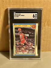 1988 FLEER MICHAEL JORDAN #120 SGC 6 ALL-STAR Slam Dunk Jumpman