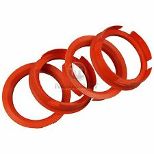 4x Bagues de centrage 72,6 - 58,1 mm Orange Sanguine FIAT ALFA ROMEO LANCIA