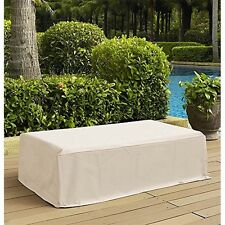 Crosley Outdoor Rectangular Table Furniture Cover Patio Covers in Cream