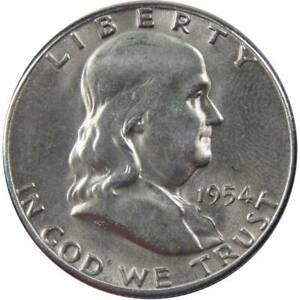 1954 S Franklin Half Dollar BU Uncirculated Mint State 90% Silver 50c US Coin