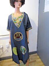 African Traditional Ankara Wax Boubou Baizin Abaya Kaftan Dashiki Dress