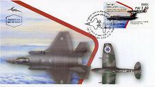 Israel 2019 FDC Fighter Jets Supermarine Spitfire Lightning 1v Aviation Stamps