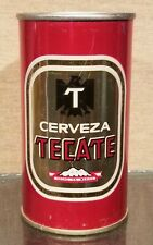 * 1970s Mexico Tecate Double Sided Pull Tab Beer Can Cerveza Straight Steel