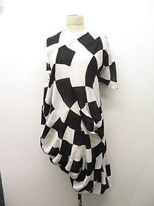 Junya Watanabe X Comme Des Garçons Spiral Checkerboard 2009 Sheath Dress Sz M