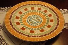 "Ceramic on metal Italian trays/platters 13 1/2"" diameter[a4]"