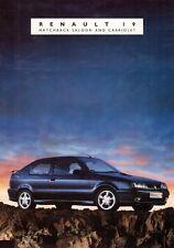 Renault 19 Mid 1992 UK Market 8pp Sales Brochure RL RN RT 16v Cabriolet