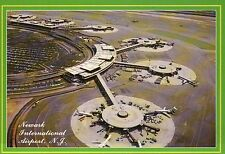 Newark International Airport, New Jersey, Aerial, Planes --- Airplane Postcard