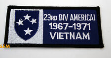 23rd AMERICAL DIVISION HAT PATCH US ARMY VIETNAM VETERAN GIFT BADGE PIN UP WOW