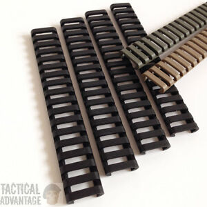 4 x AEG 20mm Rubber Rail Covers Handguard Ladder Airsoft RIS Magpul Style Cover