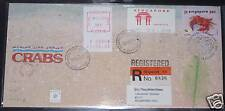 Singapore FDC Singpex92 crab & TEC, Frama ATM cancellations including Orchids
