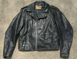 Schott Perfecto Vintage Leather Jacket Motorcycle Biker Size 42