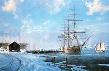 Geoff Hunt Limited Edition Print - Shipbuilding Along The Kennebec River
