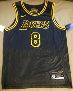 New Kobe Bryant Nike Vaporknit Los Angeles Lakers Mamba Day Jersey Size 48 Large
