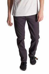 KAYDEN.K Men's Slim Fit Jeans CHARCOAL GRAY Twill Denim Pants Size