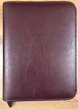 """Day-Timer 7 Ring Zipper Binder Day Planner Organizer Notebook Burgundy 10.5""""x8"""""""