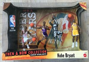 NEW 1999 Mattel NBA Super Stars Action Figure Then & Now Collection Kobe Bryant