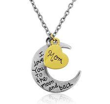 I Love You per la luna e ritorno MOM CIONDOLO COLLANA bella scatola regalo