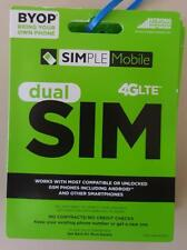 PRELOADED Simple Mobile SIM PREFUNDED $40 PLAN FREE 2ND MONTH $80 Worth