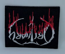 2100 OBITUARY Blood Drip Logo Iron On Sew On Death Metal Badge Patch 9.5x7.5cm