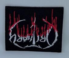 2100 OBITUARY Blood Drip Logo Iron On Sew On Death Metal Badge Patch 9.5x7.5cm