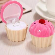 Cute Cake Cupcake Gift Jewelry Earrings Ring Pearl Necklace Display Box Case