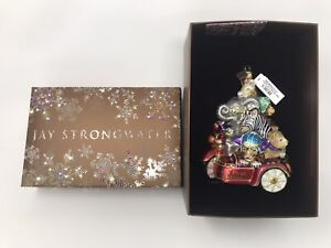 """Jay Strongwater 2020 """"Baby's First Christmas"""" Glass Ornament Animals NIB $185"""