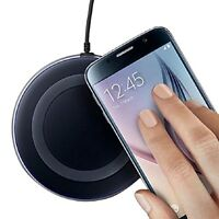 UNIVERSAL WIRELESS QI CHARGER BLACK CHARGING PAD FOR ALL WIRELES ENABLED PHONES
