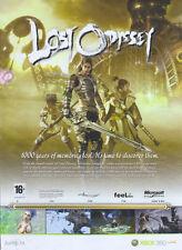 "Lost Oddyssey ""Xbox 360"" 2008 Magazine Advert #4624"