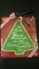 Christmas Tree/Holiday Serving Dish with Tree Cookie Cutter Included