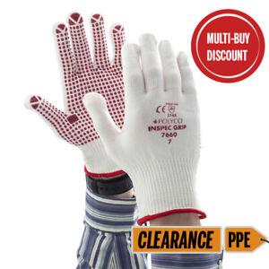 Grip PVC Dot Gloves - 3 PAIRS - BULK DISCOUNT