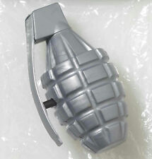Silver Plastic Combat Hero Water Squirting Squirt Hand Grenade Pool Bath Toy