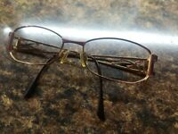 Cazal Germany Vintage Eye Glasses Frame Gold Metal Abstract Rare