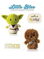 * STAR WARS * Hallmark Itty Bittys Bitty X2 * Yoda & Chewbacca *
