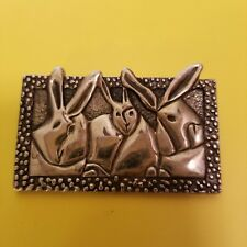 Vintage Sterling Silver MD ANDERSON CANCER CENTER CHILDRENS ART PROJECT Bunny...