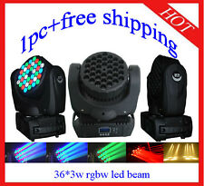 1pc 36*3W RGBW Led Beam Moving Head Wash Light Home/Club/DJ Light Free Shipping