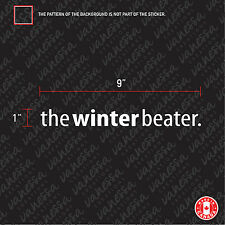 2X THE WINTER BEATER car sticker decal vinyl
