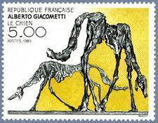 Timbre France Y&T 2383 Neuf** - Le Chien - Alberto Giacometti - 1985
