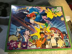 Vintage Pokemon - 60 piece puzzle Milton Bradley Hasbro Unopened - Ash