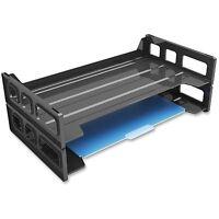 Deflect-O Single Shelf Stacking Legal Tray Side Load Black 399104