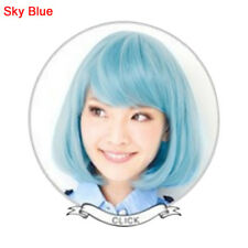 Straight Blue New Bob Anime Short Women Wig Cosplay Costume Heat Full Hair Wigs