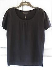 NEW M&S Rosie Autograph Pure Cashmere Black Short Sleeve Pyjama Top UK 14 EUR 42