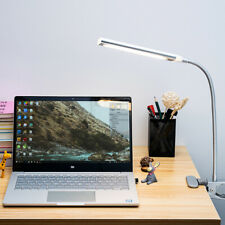 Dimmable Silver Flexible USB Clip-on Desk Lamp Metal Reading Light 5W 48 Leds