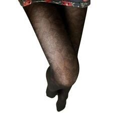 Fishnet Party Vintage Ladies Hosiery Glamour Womens 80d Lace Pantyhose Black One Size Regular