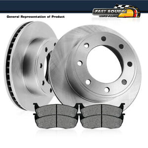 Rear 326 mm Quality Brake Disc Rotors And Metallic Pads For Ford E150 E250 E350
